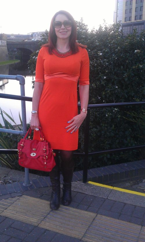 Orange Fever Dress & Red Accents