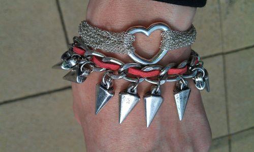 Asos silver spike bracelet