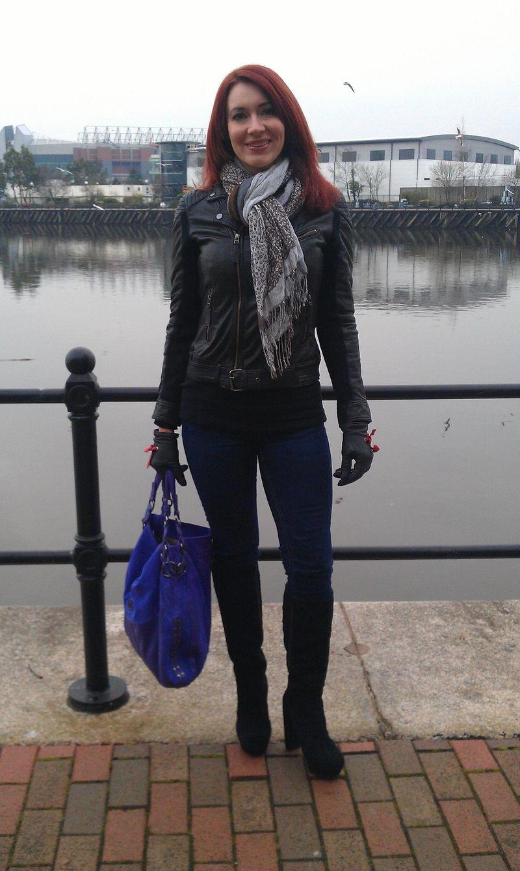 Leather Oakwood Biker Jacket and Skinny Jeans