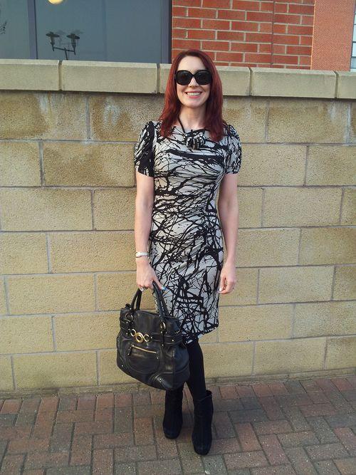 Marks & Spencer slinky paint splatter effect dress